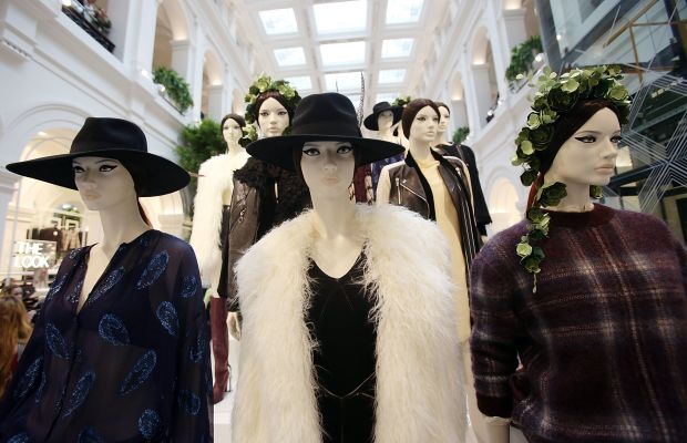 Mannequins at an H&M store. Photo: Getty Images