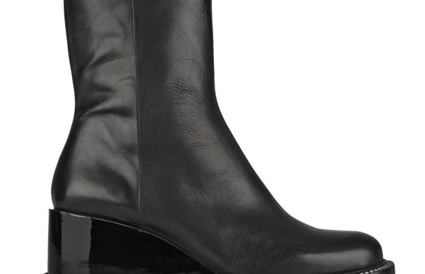 Jill Sander Leather Wedge Ankle Boots, $343.50 (from $1,145), available at Net-a-Porter.