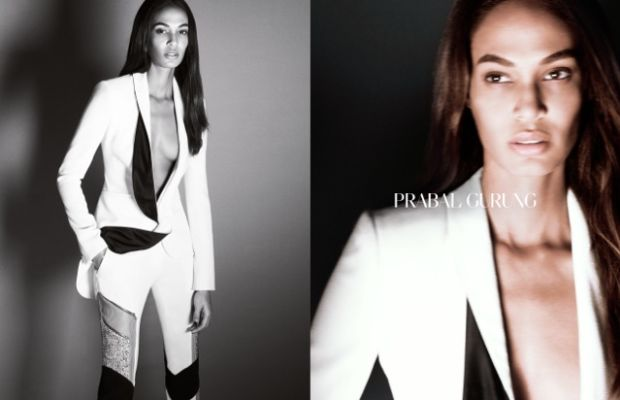 Joan Smalls for Prabal Gurung. Photo: Daniel Jackson