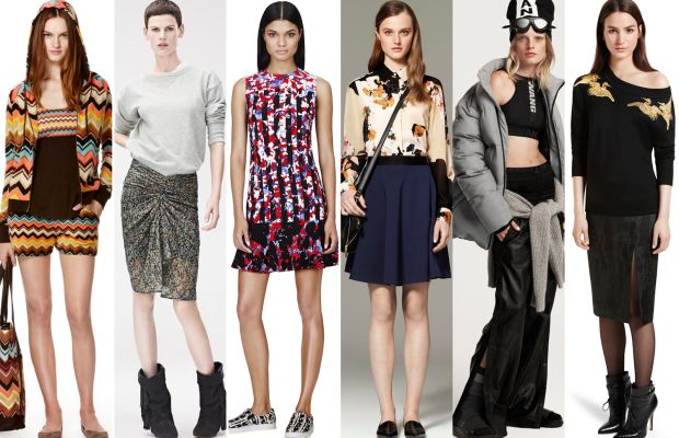 From left to right: Missoni for Target, Isabel Marant for H&M, Peter Pilotto for Target, 3.1 Phillip Lim for Target, Alexander Wang for H&M, Altuzarra for Target. Photos: Target and H&M