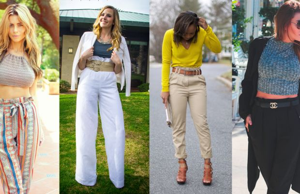 Style bloggers like to put on a belt on it. From left to right:The Pearl Oyster; Katrina Fox of The Foxy Kat; Cortnie Elizabeth of Style Lust Pages; Erica Stolman of FashionLush.