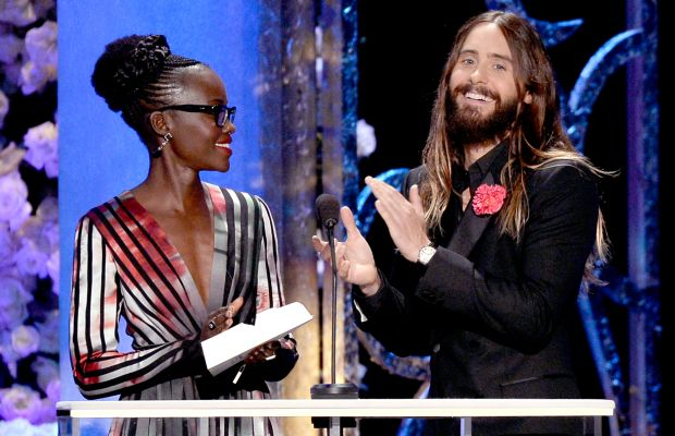 """""""Jared, your hair looks so fantastic!"""" """"No, Lupita, YOURS does!"""" *golf claps* Photo: Kevork Djansezian/Getty Images"""