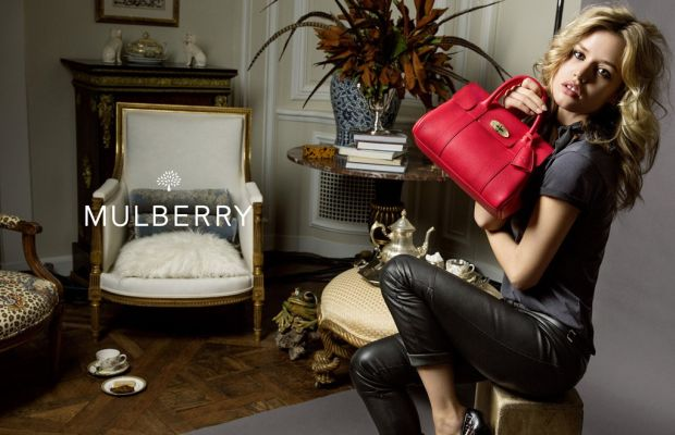 Georgia May Jagger for Mulberry. Photo: Mulberry