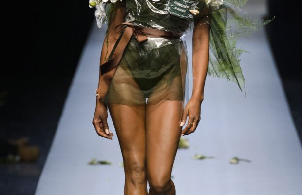 A look from Jean Paul Gaultier couture spring 2015. Photo: Imaxtree