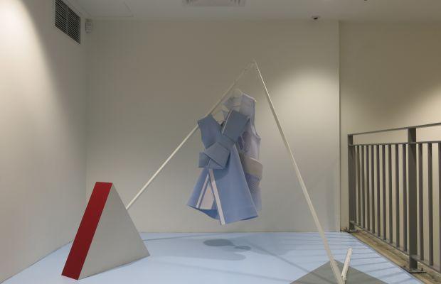 Andrea Jiapei Li's installation at Dover Street Market New York. Photo: Dover Street Market New York