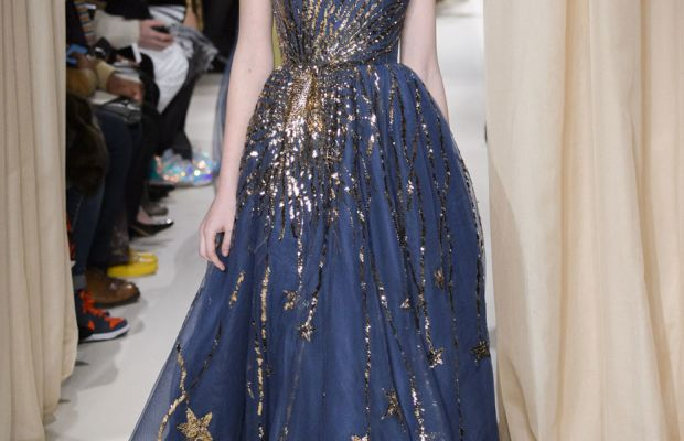 A look from Valentino's spring 2015 couture collection. Photo: Imaxtree