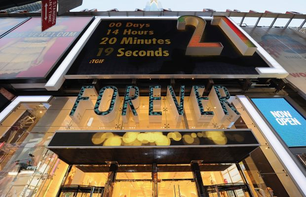 The Forever 21 store in Times Square. Photo: Dimitrios Kambouris/Getty Images for Forever 21