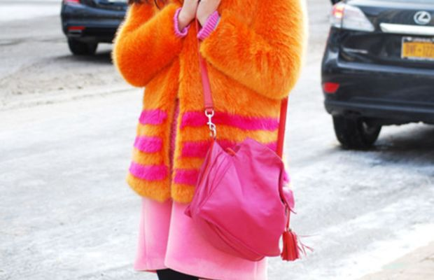 Susie Lau (aka Susie Bubble) at New York Fashion Week last February. Photo: Ashley Jahncke