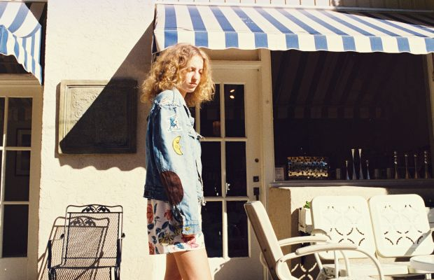 Collins, on the road. Photo: Petra Collins