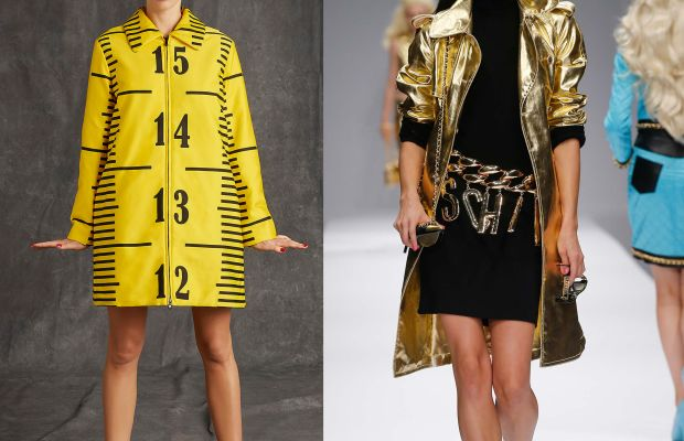 Moschino pre-fall 2015, left, and Moschino spring 2015, right. Photos: Moschino