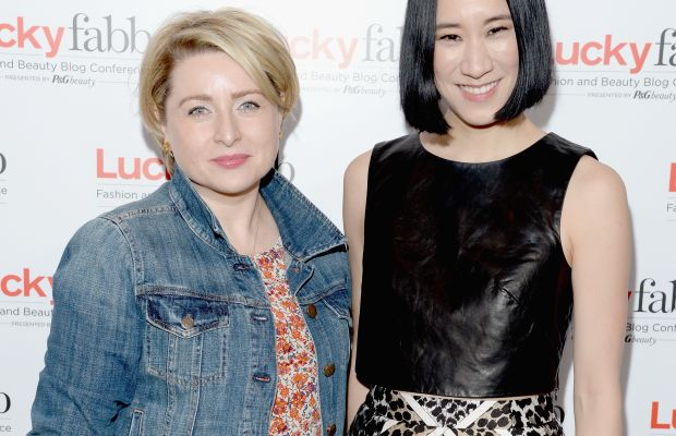 The Lucky Group President Gillian Gormand Round and Chief Creative Officer Eva Chen in April. Photo: Michael Kovac/Getty Images for Lucky
