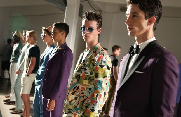 David Hart's spring 2015 collection at New York Men's Day in September. Photo: Monica Schipper/Getty Images
