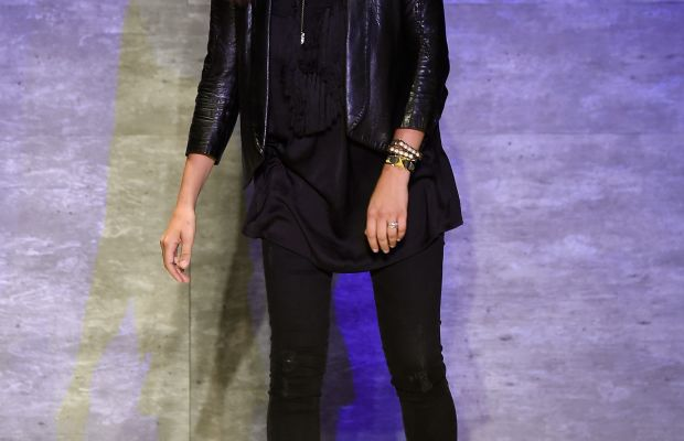 Rebecca Minkoff walks the runway at spring 2015 show. Photo: Frazer Harrison/Getty Images for Mercedes-Benz Fashion Week