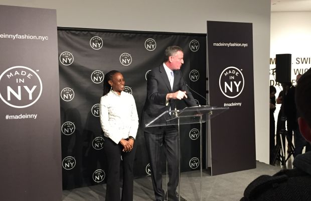 Chirlane McCray and Mayor Bill de Blasio at the Made in NY event on Tuesday night at Milk Studios. Photo: Chantal Fernandez/Fashionista