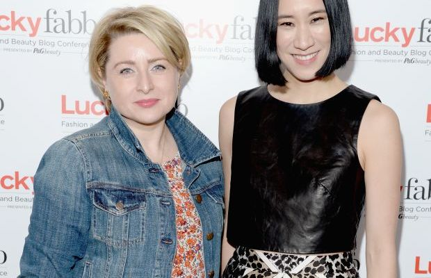 The Lucky Group President Gillian Gorman Round and Chief Creative Officer Eva Chen in April. Photo: Michael Kovac/Getty Images for Lucky