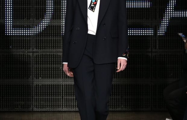A look from DKNY fall 2015. Photo: Neilson Barnard/Getty Images