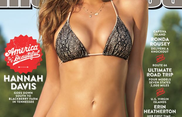 Hannah Davis wears an Indie Soul bikini on the 2015 cover of the Sports Illustrated: Swimsuit Edition. Photo: Sports Illustrated