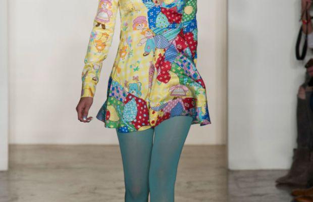 Gigi Hadid at Jeremy Scott's fall 2015 runway show. Photo: Imaxtree