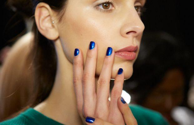 Surprise! Blue metallics are trending. Photo: Essie