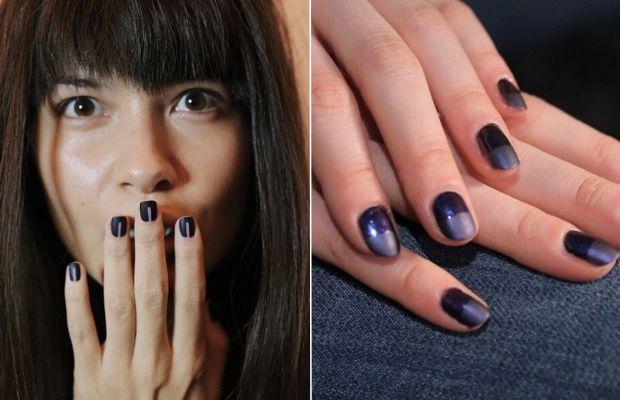Matte blue metallics at Marissa Webb and Charlotte Ronson. Photos: misspopnails Instagram