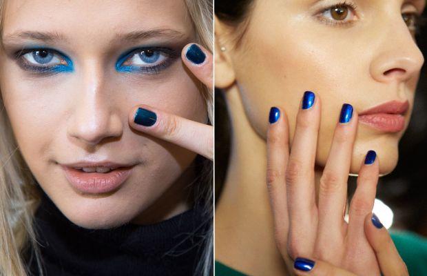 Shiny blue at Karen Walker and Costello Tagliapietra. Photos: Jin Soon & Essie