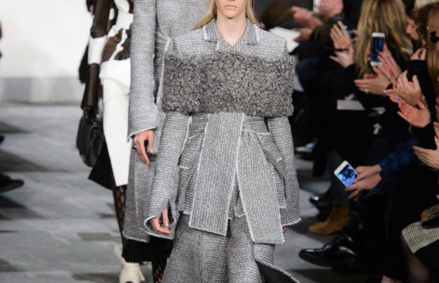 The finale at the Proenza Schouler fall 2015 show. Photo: Imaxtree