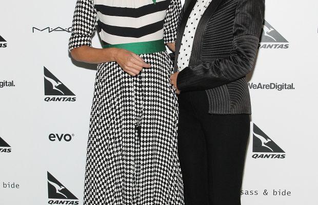 Sass & Bide co-founders Heidi Middleton and Sarah-Jane Clarke at New York Fashion Week in February 2014. Photo: Mireya Acierto/Getty Images