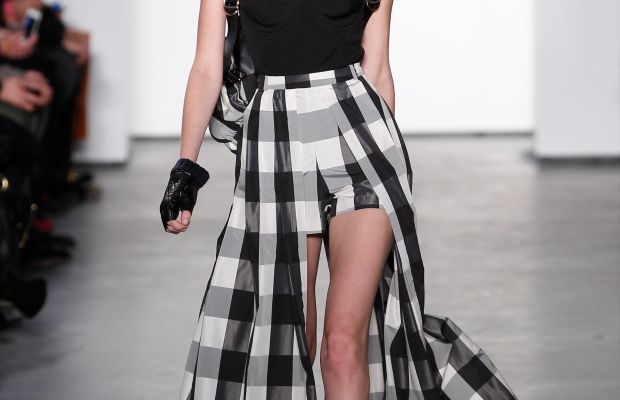 A look from Sass & Bide's fall 2014 collection, Middleton and Clark's last for the label. Photo: Joe Kohen/Getty Images