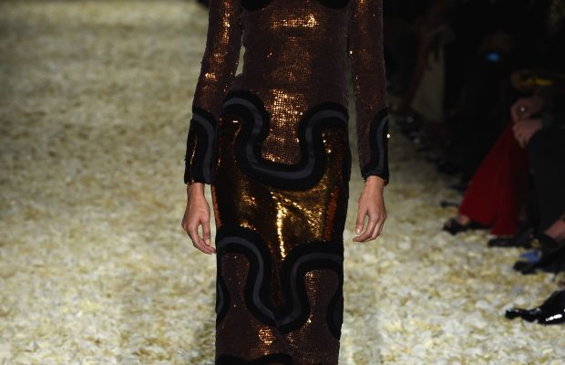 A look from Tom Ford's fall 2015 collection. Photo: Dimitrios Kambouris/Getty Images