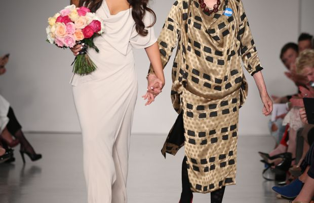 Vivienne Westwood and granddaughter Cora Corre at the Vivienne Westwood Red Label show in September in London. Photo: Mike Marsland/Getty Images