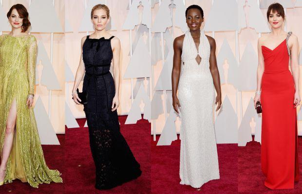 From left to right: Emma Stone, Sienna Miller, Lupita Nyong'o, Dakota Johnson. Photos: Jason Merritt/Getty Images
