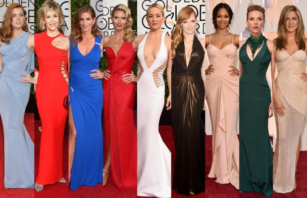 Versace's ladies. Photos: Getty Images