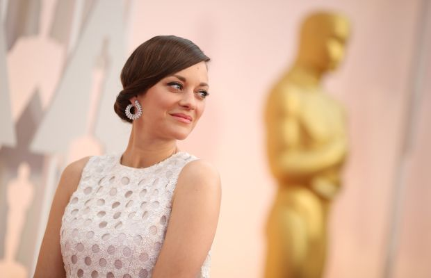 Marion Cotillard in Dior at the Academy Awards on Sunday. Photo: Christopher Polk/Getty Images