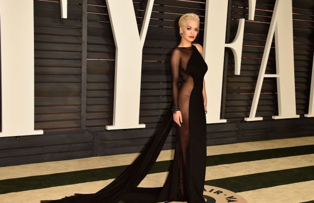 Rita Ora in the biggest Oscars after party trend: the naked dress. Photo credit: Pascal Le Segretain/Getty Images