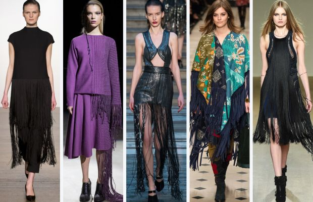 From left to right: Pavane, Timur Kim, Julien Macdonald, Burberry Prorsum and Issa.