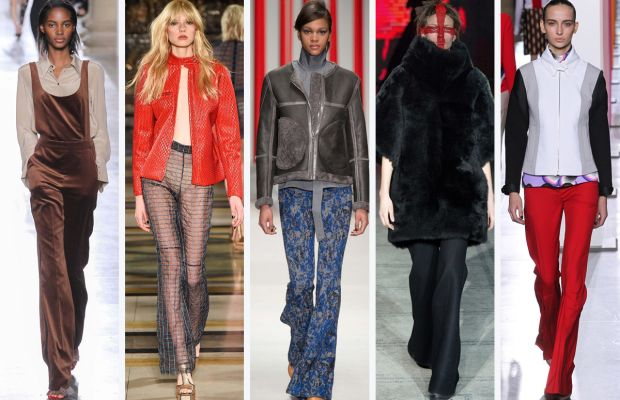 From left to right: Topshop Unique, Felder Felder, Eudon Choi, Gareth Pugh and Jonathan Saunders