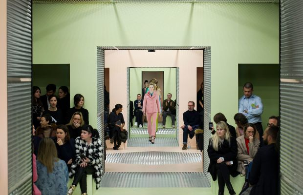 Prada's fall 2015 show. Photo: Imaxtree