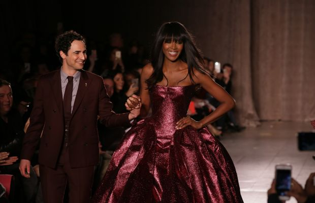 Zac Posen and Naomi Campbell at Posen's fall 2015 show. Photo: Chelsea Lauren/Getty Images