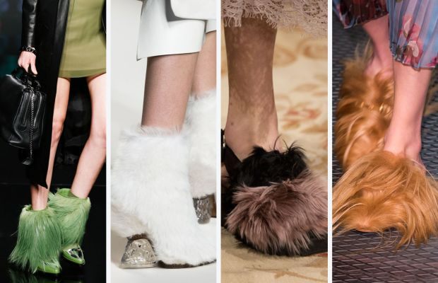 From left to right: Aigner, Fendi, Antonio Marras and Gucci. Photos: Imaxtree