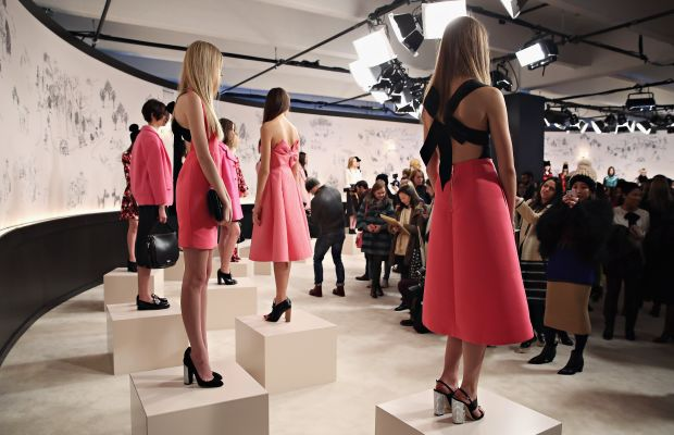 The scene at Kate Spade's fall 2015 presentation. Photo: Cindy Ord/Getty Images