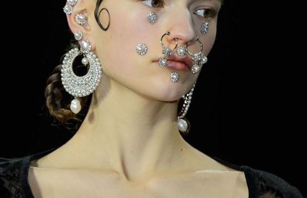 A close-up from Givenchy's fall 2015 collection. Photo: Imaxtree