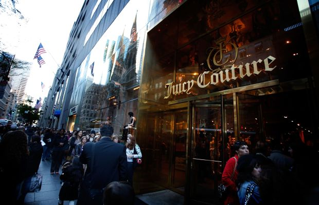 A now shuttered Juicy Couture store in New York City, photographed in 2010. Photo: Joe Kohen/Getty Images for TEEN VOGUE