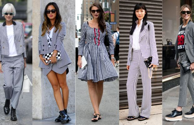 Street style from New York Fashion Week outside the spring 2015 shows. Center photo: Ashley Janeweke/Fashionista. All other photos: Imaxtree