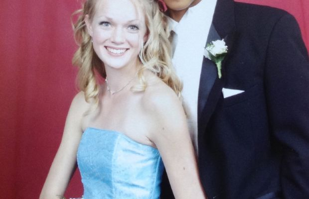 Lindsay Ellingson and one very lucky young man. Photo: Lindsay Ellingson's mom