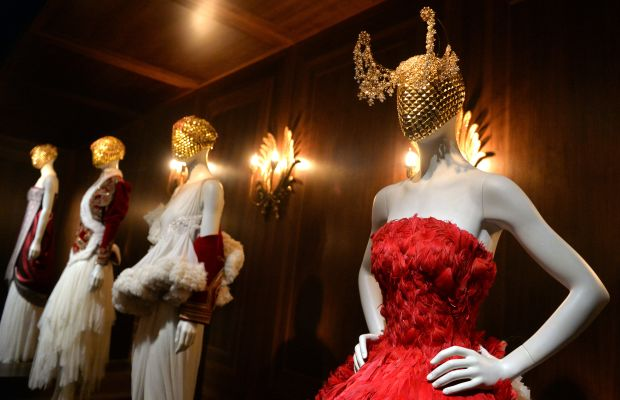 """""""Alexander McQueen: Savage Beauty"""" at the Victoria and Albert Museum. Photo: Anthony Harvey/Getty Images"""