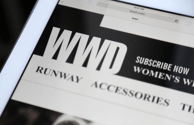 'WWD' on the iPad. Photo: Andrew Lampard/Fashionista