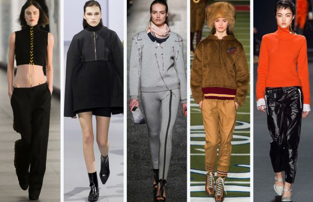 From left to right: Preen, Paco Rabanne, Alexis Mabille, Tommy Hilfiger and Rag & Bone. Photos: Imaxtree