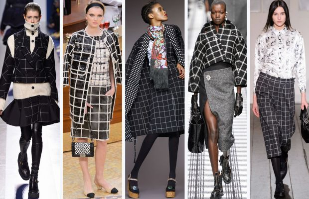 From left to right: Sacai, Chanel, Duro Olowu, Balenciaga and Devastee. Photos: Imaxtree and Duro Olowu
