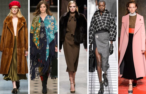 From left to right: Gucci, Burberry, Rochas, Balenciaga and Marni. Photos: Imaxtree
