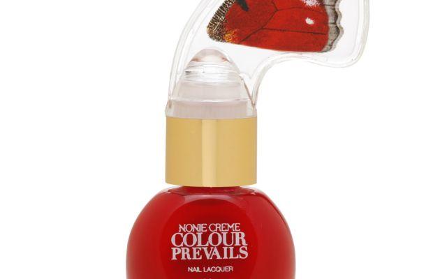 The ergonomic butterfly nail polish handle. Photo: Nonie Creme Colour Prevails